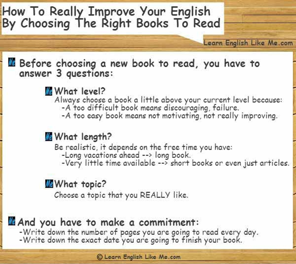 How to really Improve your English by Choosing the Right Books to Read 3