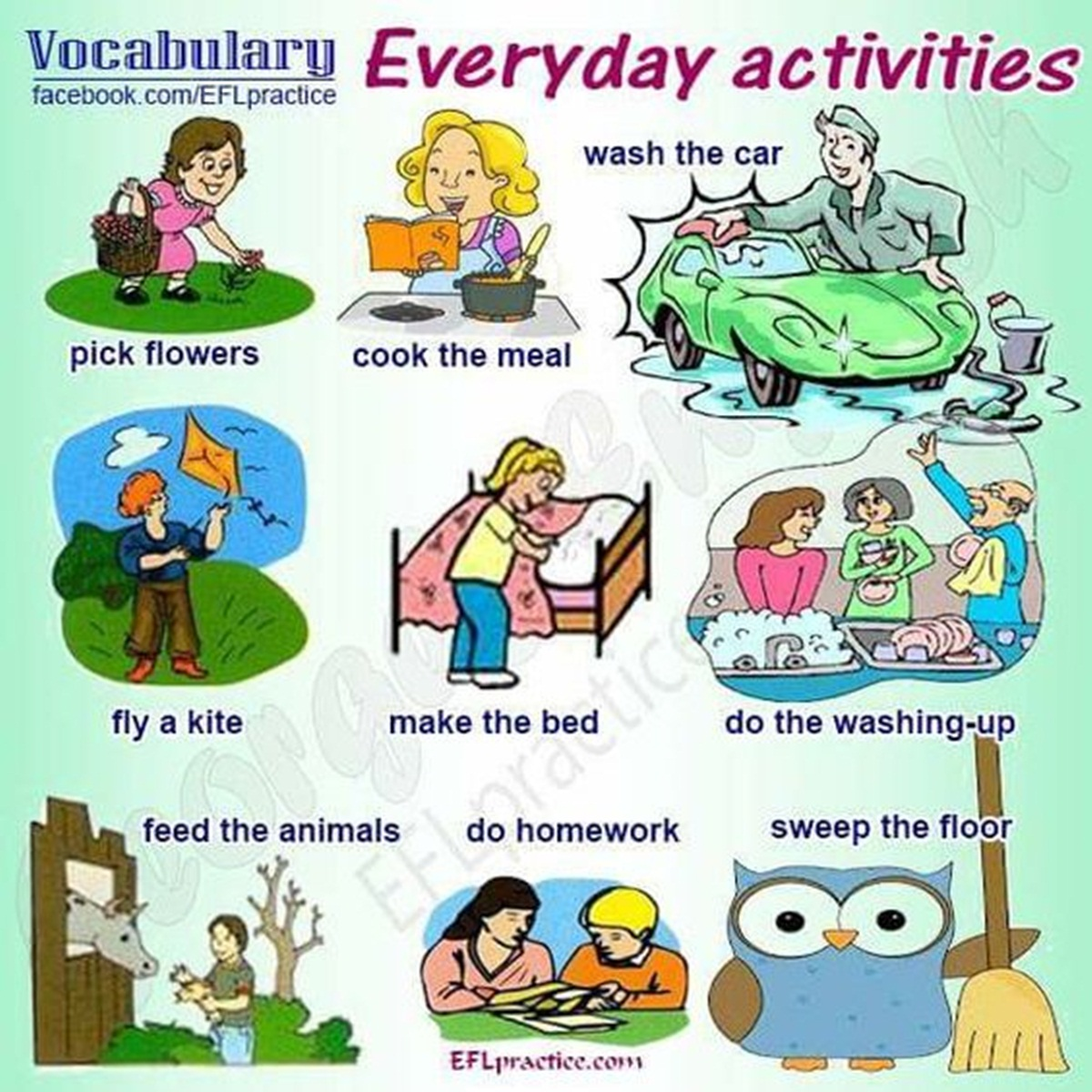 Vocabulary: Everyday Activities 3