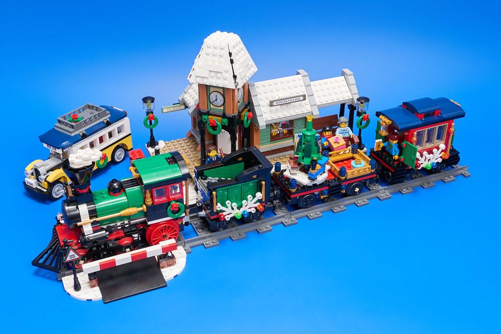lego winter holiday train instructions