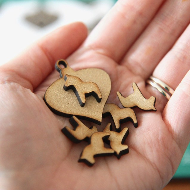 StickerKitten Christmas 2017 range - Dala Horse wooden embellishments - baubles and mini horses