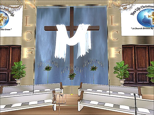 Water Edge Town - New Life Christian Fellowship - Draped Cross | by mromani50