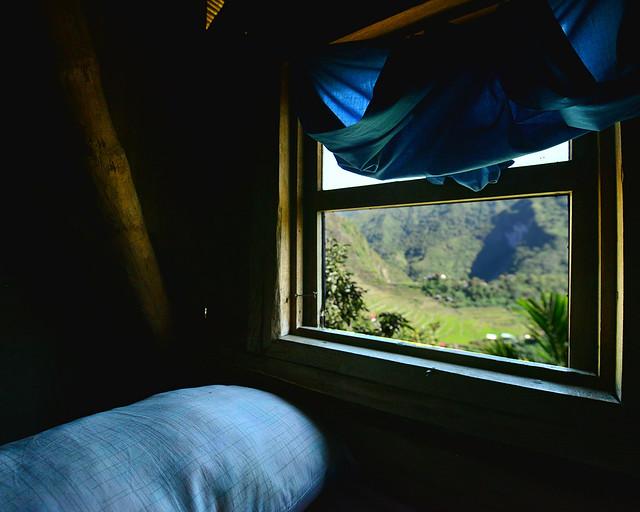Nuestra ventana en Batad con vistas a los arrozales en Filipinas