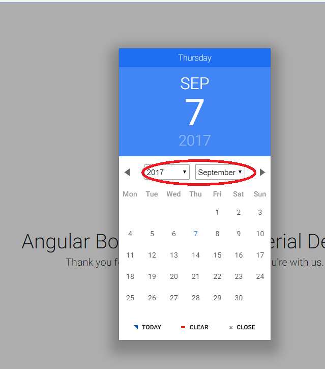 Date picker not rendering properly - Material Design for Bootstrap