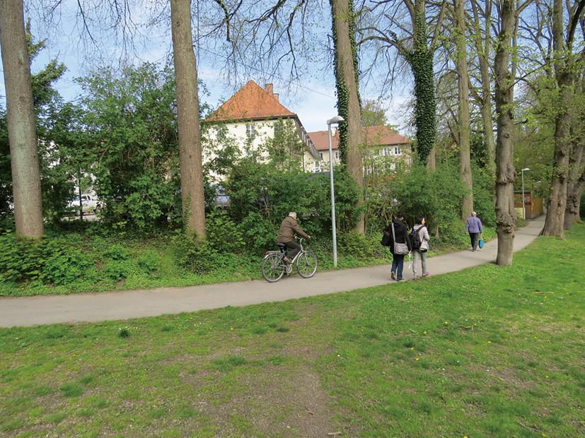 P29-2:從埃爾丁火車站步行前往巴伐利亞邦農民協會弗萊辛─埃爾丁分會,途中景觀恬靜怡人。