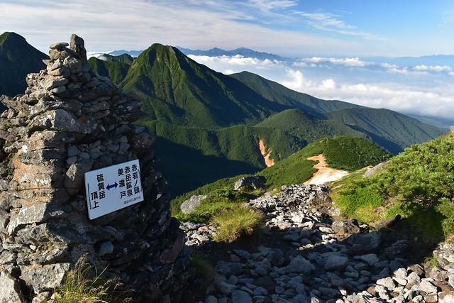 硫黄岳から赤岳鉱泉へ下山