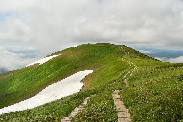 姥ヶ岳の稜線