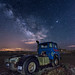 Truck and Milky way