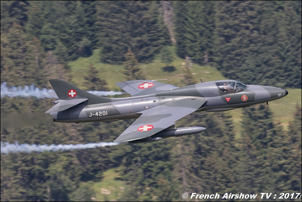 Hawker Hunter T.68 - J-4201/HB-RVR Amici dell'Hunter 50ans d'Aviation Megeve 2017 - altiport de Megève , Haute-Savoie, Auvergne-Rhône-Alpes , Meeting Aerien 2017