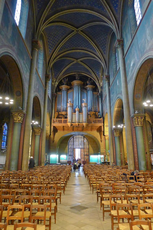 The restored church of Saint-Germain-des-Prés, Paris