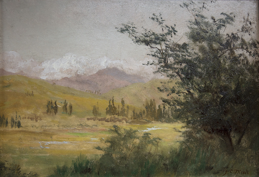 Painting Spring Mountain Scene Green Wood Flickr