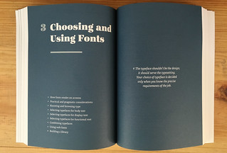 Spread from Web Typography book | by clagnut