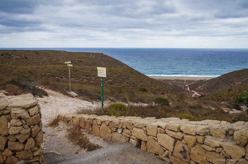 Playa de los Muertos desde el aparcamiento