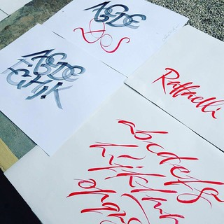 During workshop with Carl RohrsCalligraphy: #chiarariva | by chiar.riva