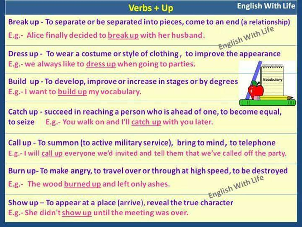 """Phrasal Verbs with """"UP"""" 3"""