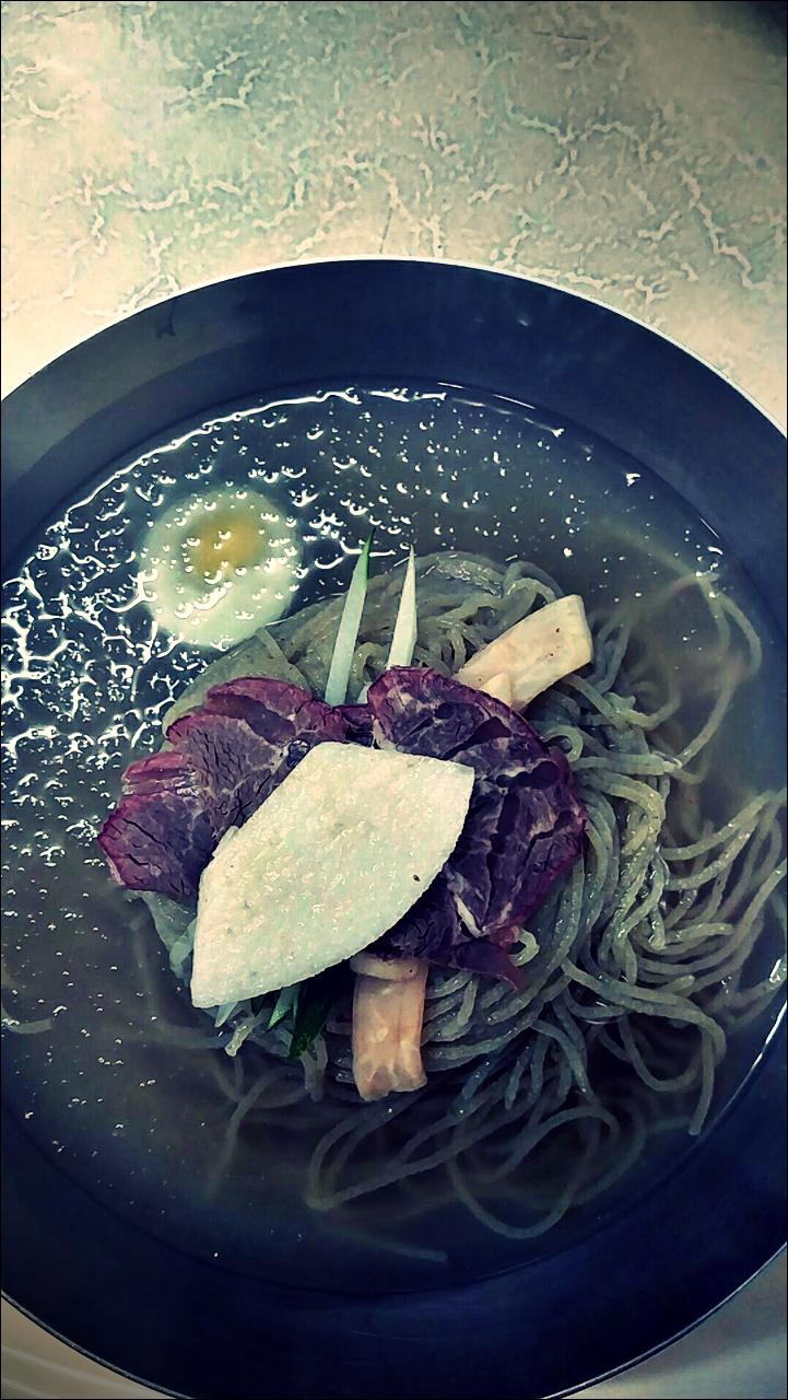 물냉면-'마포 을밀대 평양냉면(乙密臺 - Ulmildae Cold Noodle restaurant, Mapo, Seoul)'