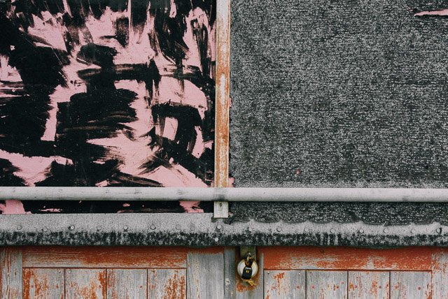 close up of texture on beach hut