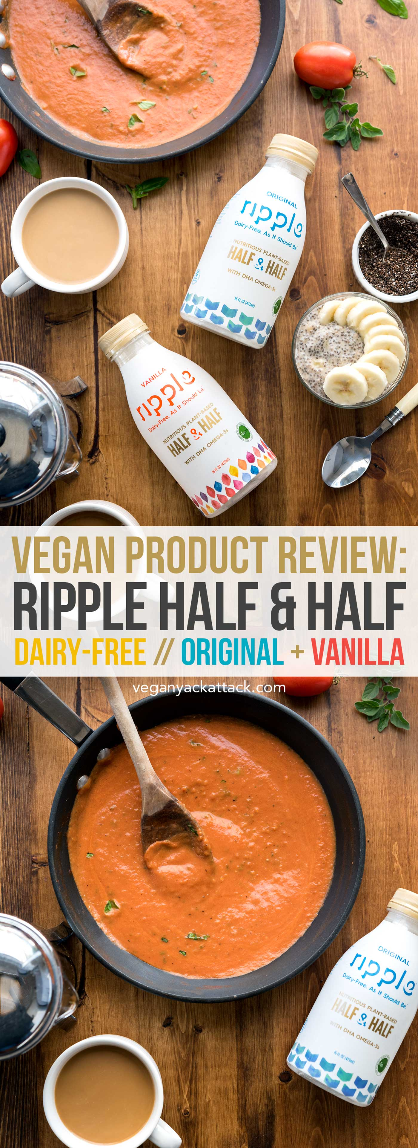 New Vegan Product Review: Ripple Half & Half! Silky smooth, ultra creamy, and versatile. Allergy-friendly, Nut-free #RippleFoods #DairyFreedom