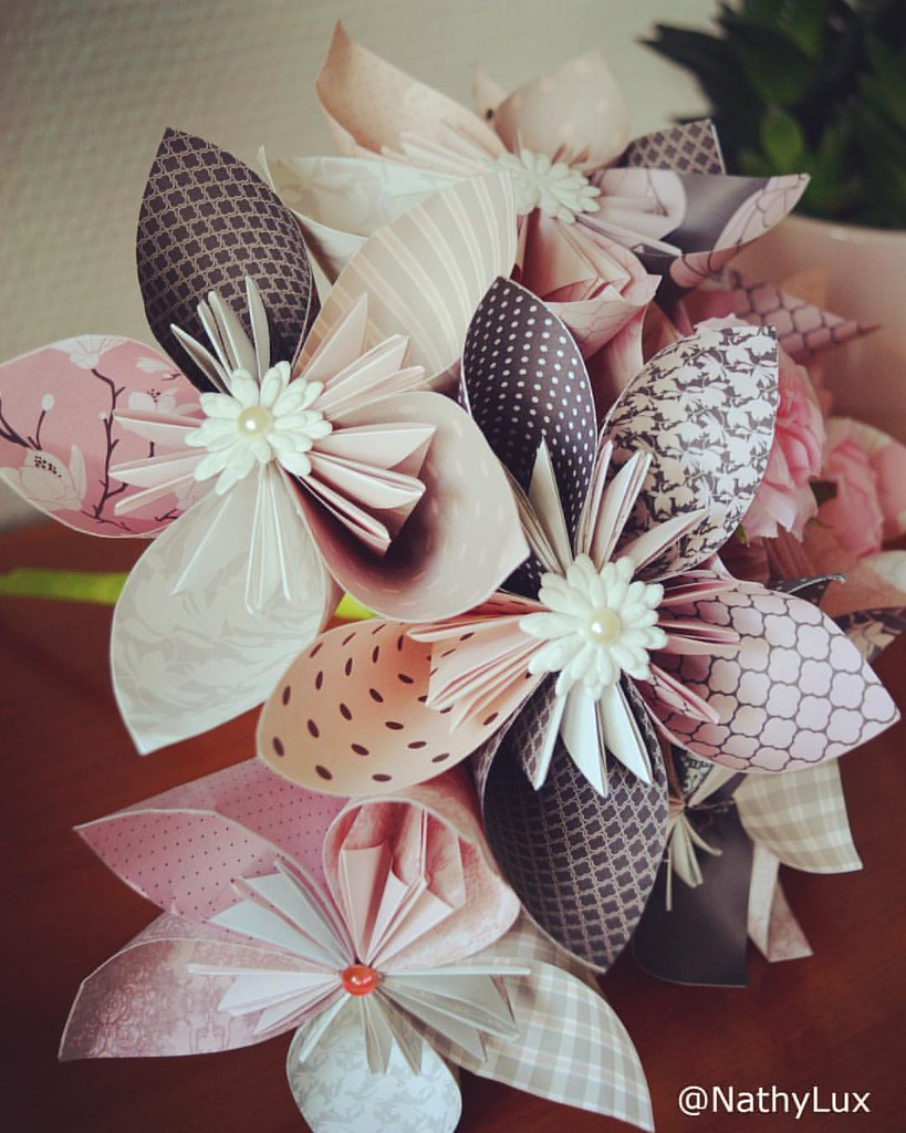 Diy Inspiration Origami Flowers Paper Clairefontaine In Flickr