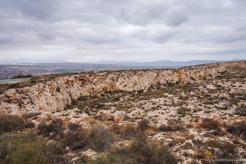 Terreno rebajado en la Mesa Roldán para construir los puertos de Carboneras