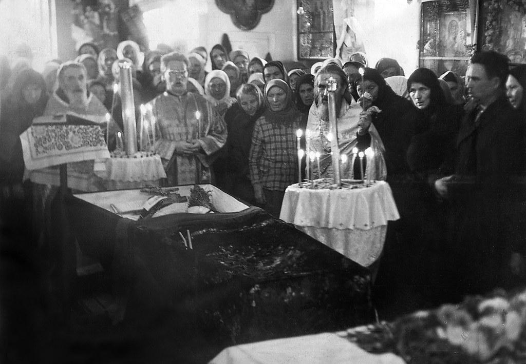 Отпевание игумена Иоанна. 27 сентября 1970г.