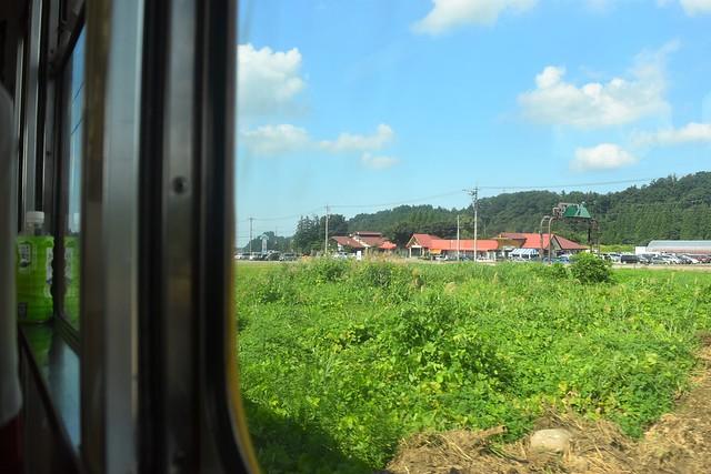 富山地方鉄道立山線車窓からの風景