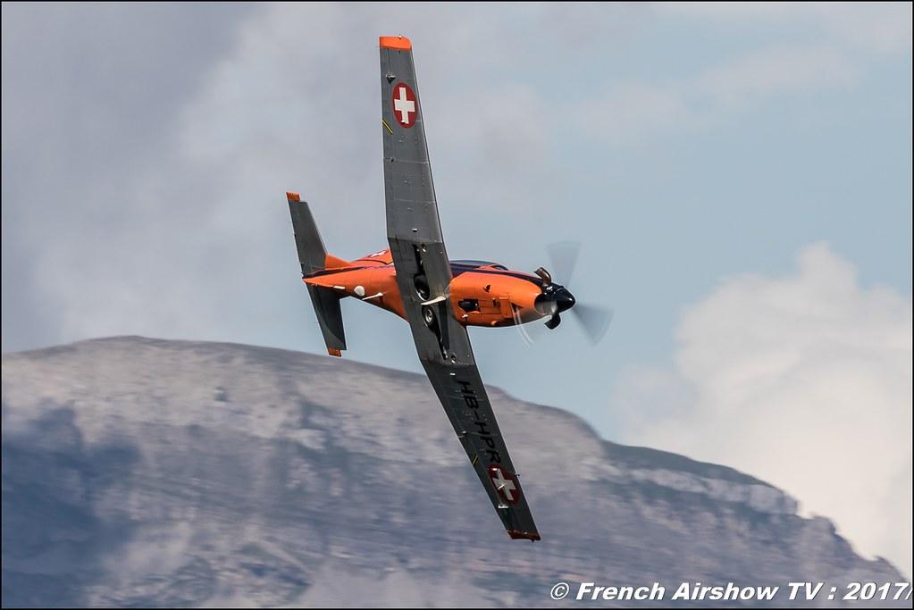 Pilatus PC-7 (HB-HPR) 50ans d'Aviation Megeve 2017 - altiport de Megève , Haute-Savoie, Auvergne-Rhône-Alpes , Meeting Aerien 2017