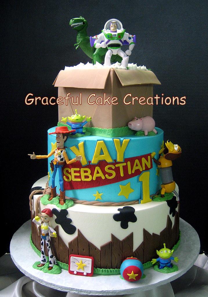 Toy Story Birthday Cake With Woody Buzz And Jessie Flickr