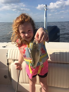 Little Girl with White Perch