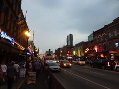 Nashville Broadway at night