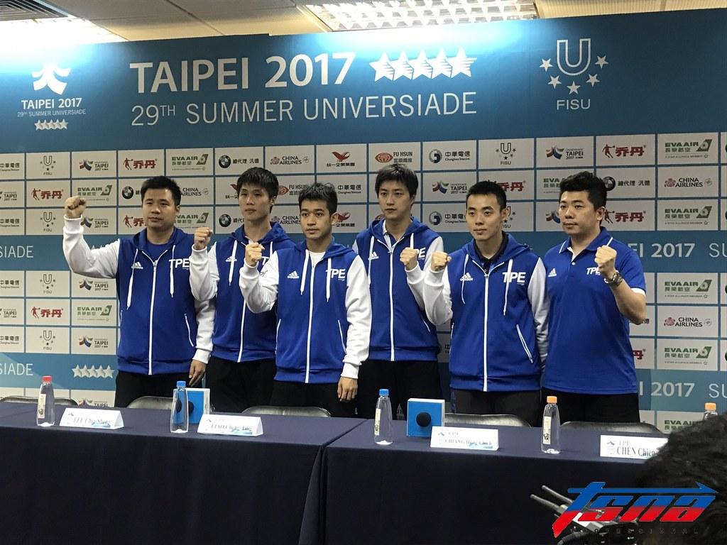 中華桌球男子代表隊。(李心筠/攝)
