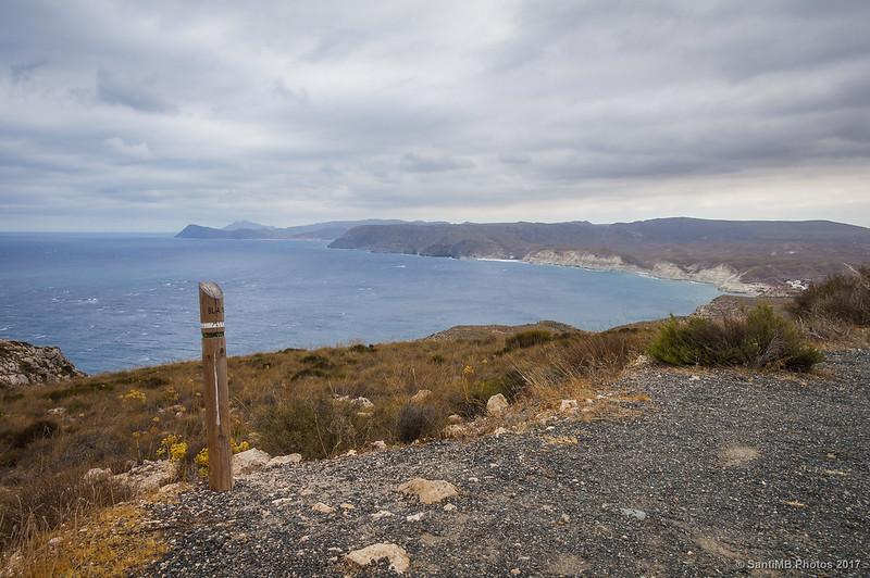 Vista del Cabo de Gata desde la Mesa Roldán