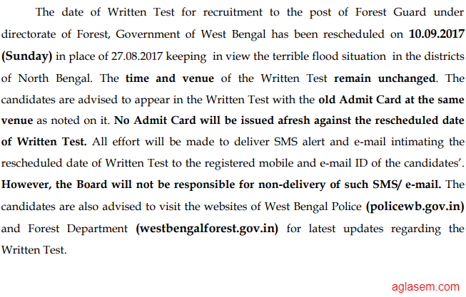 west bengal forest service exam pattern
