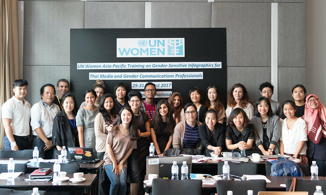 "Training on Gender-Sensitive Infographics for Thai Media and Gender Communications Professionals"" in Bangkok, during 29 – 31 August, 2017"