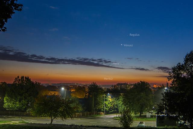 VCSE - Regulus, Vénusz, Mars, Merkúr együttállás Zalaegerszegről - Ágoston Zsolt