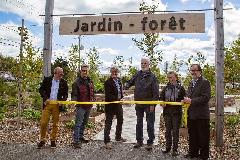 Ouverture officielle du Jardin-Forêt au Jardin des rendez-vous de Victoriaville