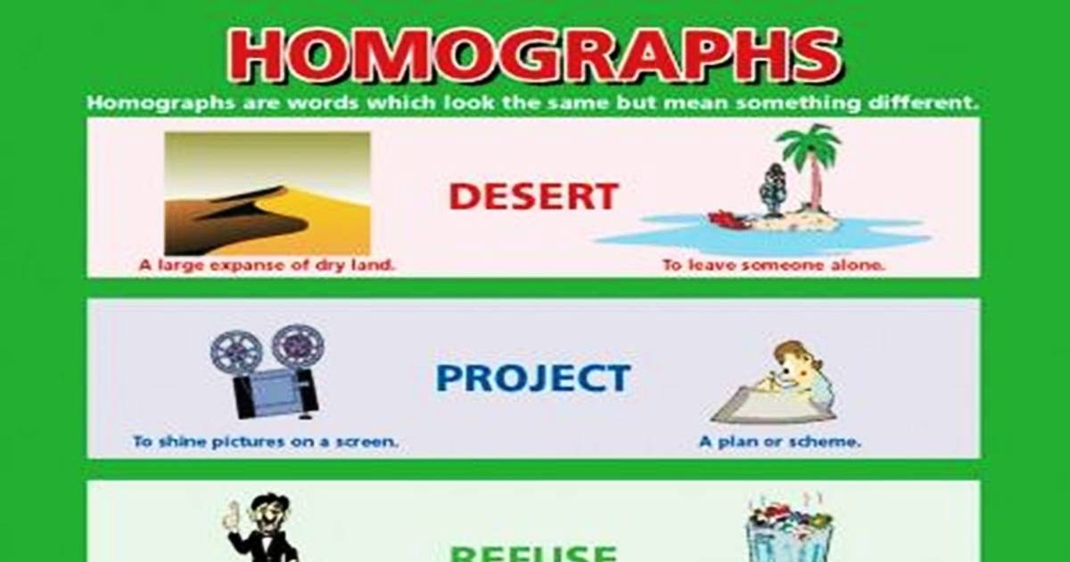Common Homographs in English 5