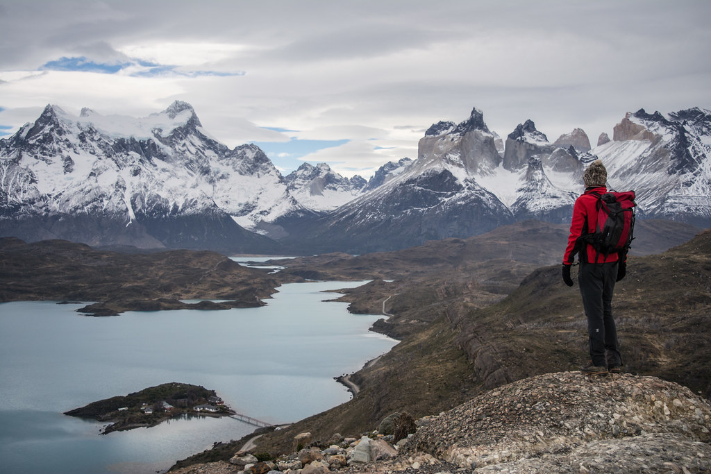View of Pehoe Lake in Torres del Paine