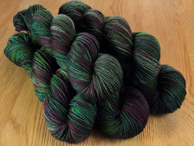 Dynamite DK hand-dyed superwash pure British wool yarn 100g – 'Space Race'