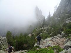 Erreur d'itinéraire dans la descente vers le ravin du Santu