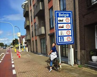 Ana -Maria Erasmus+ student cycles to Belgium from Maastricht