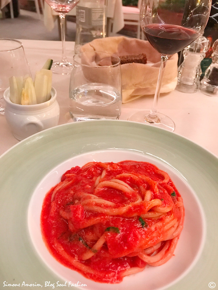Essa pasta estava deliciosa acompanhada ao maravilhoso chianti clássico reserva do Borgo San Felice.