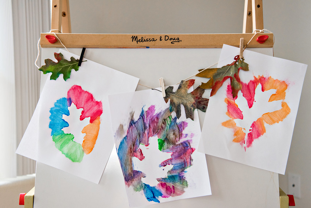 fall leaf painting project for kids craft