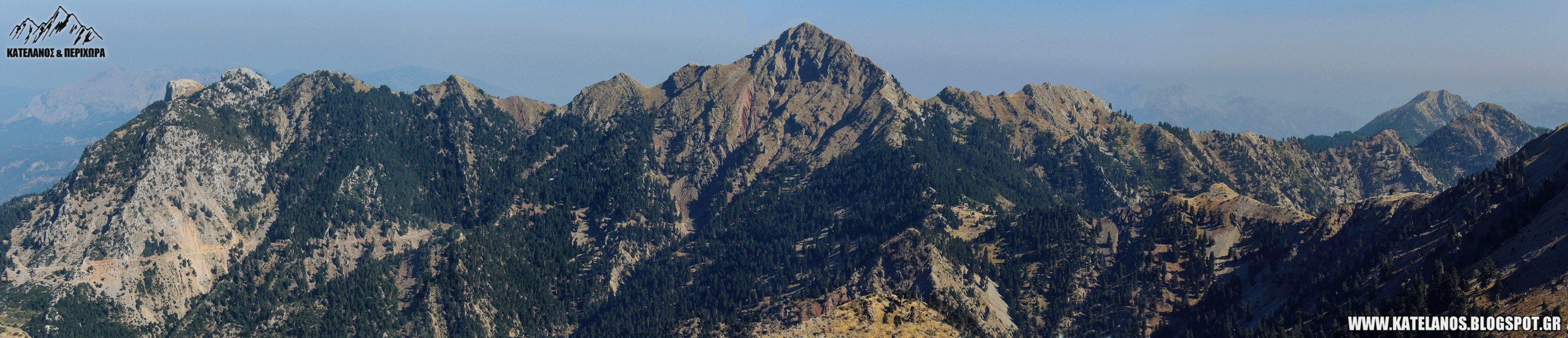 οροσειρα παναιτωλικο ορος κορυφες προφητης ηλιας κουτουπας