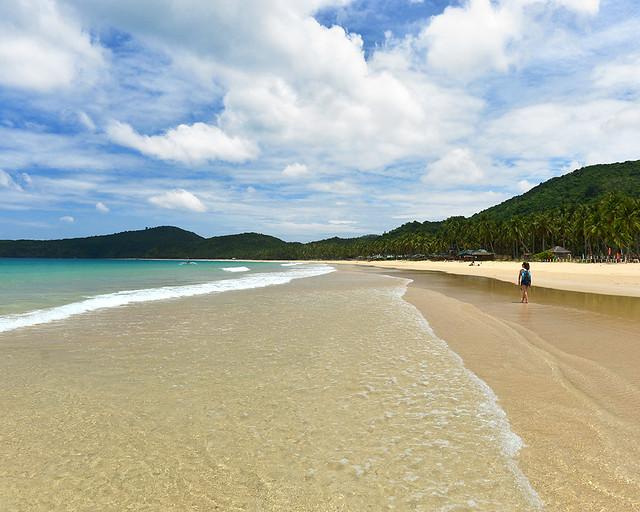 Playa de Nacpan Beach, una de las playas más bonitas donde ir en Filipinas
