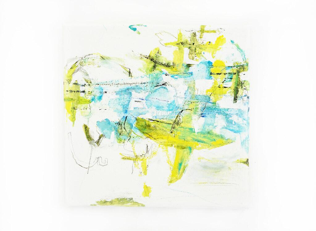 Mizutama no uta (2017) oil on canvas, pastel, coloured pen