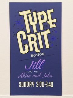 Type Crit sign painted by John Downer | by Nick Sherman