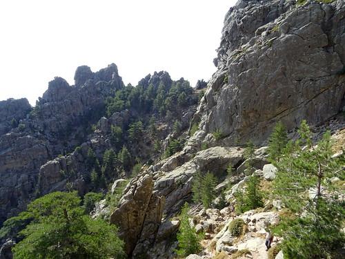 Punta Bigornu depuis la variante alpine du GR20