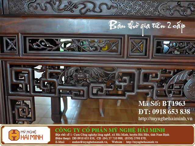 BT1963h  Ban Tho Gia Tien 2 cap  do go mynghehaiminh