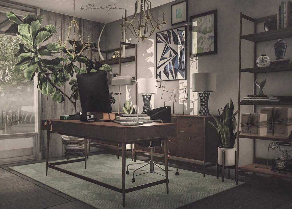 Home Office Fancy Decor Dover Collection Arcade 01