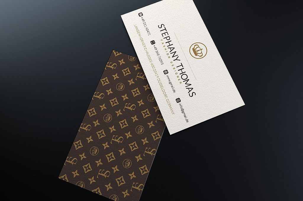 Louis Vuitton Style Business Card Template | DOWNLOAD THE TE… | Flickr